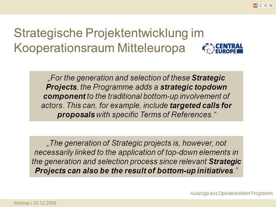 Strategische Projektentwicklung im Kooperationsraum Mitteleuropa