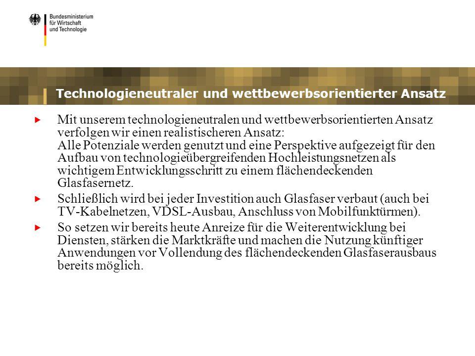 Technologieneutraler und wettbewerbsorientierter Ansatz