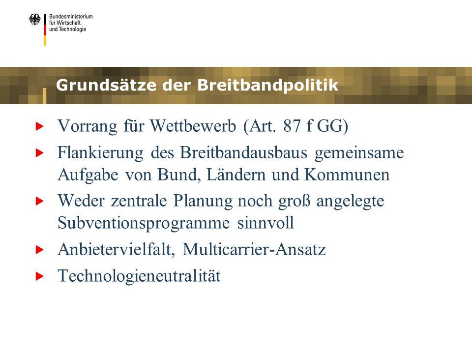 Grundsätze der Breitbandpolitik