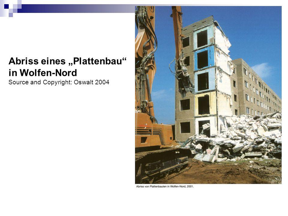 """Abriss eines """"Plattenbau in Wolfen-Nord"""