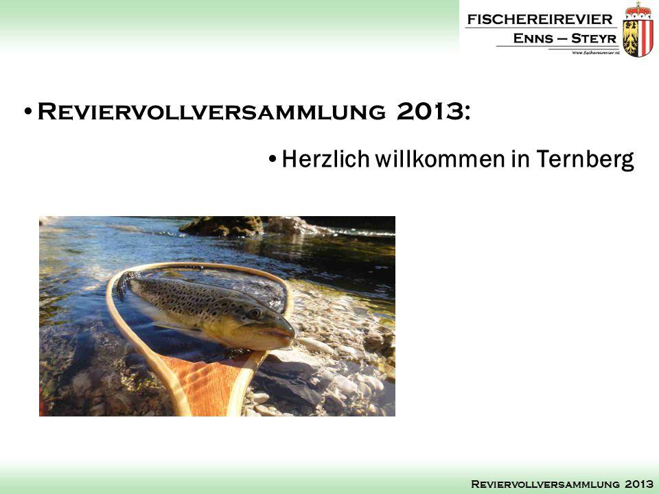 Reviervollversammlung 2013: