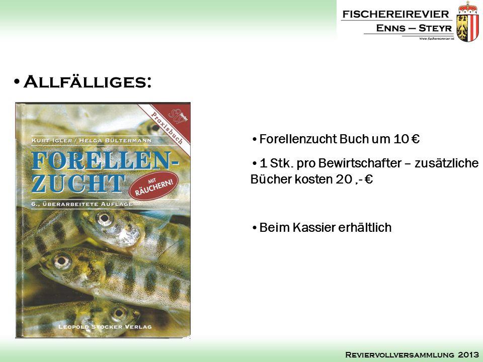 Allfälliges: Forellenzucht Buch um 10 €