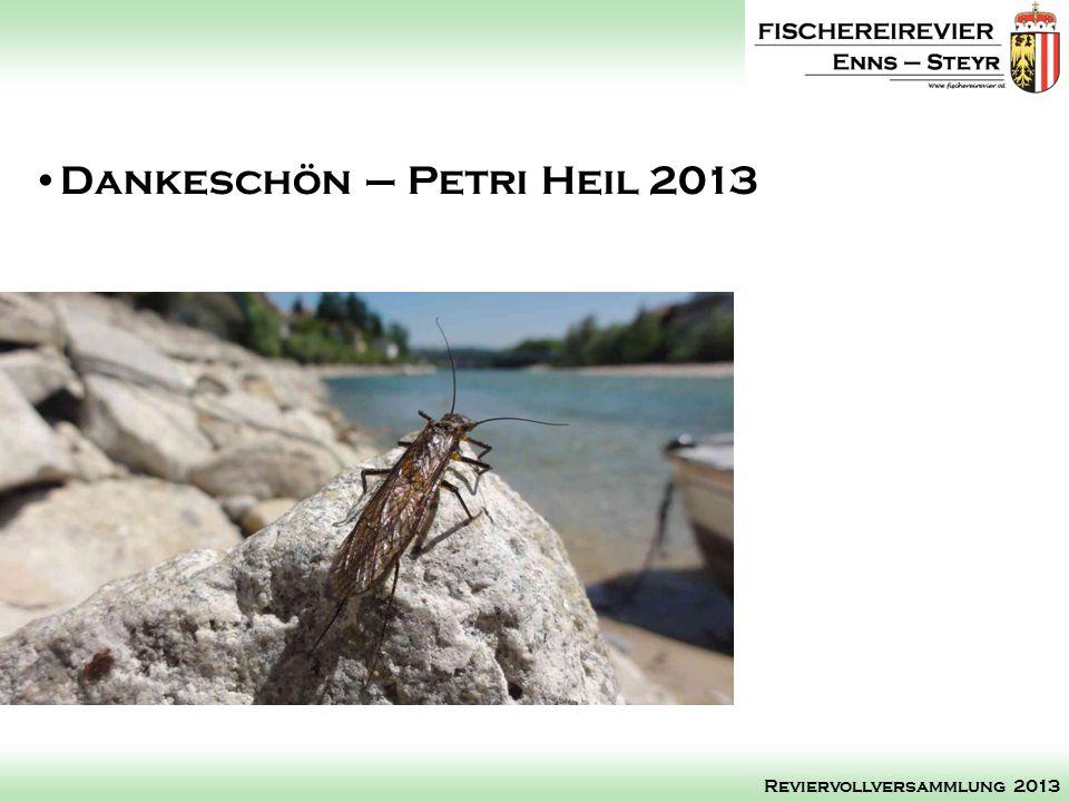 Dankeschön – Petri Heil 2013