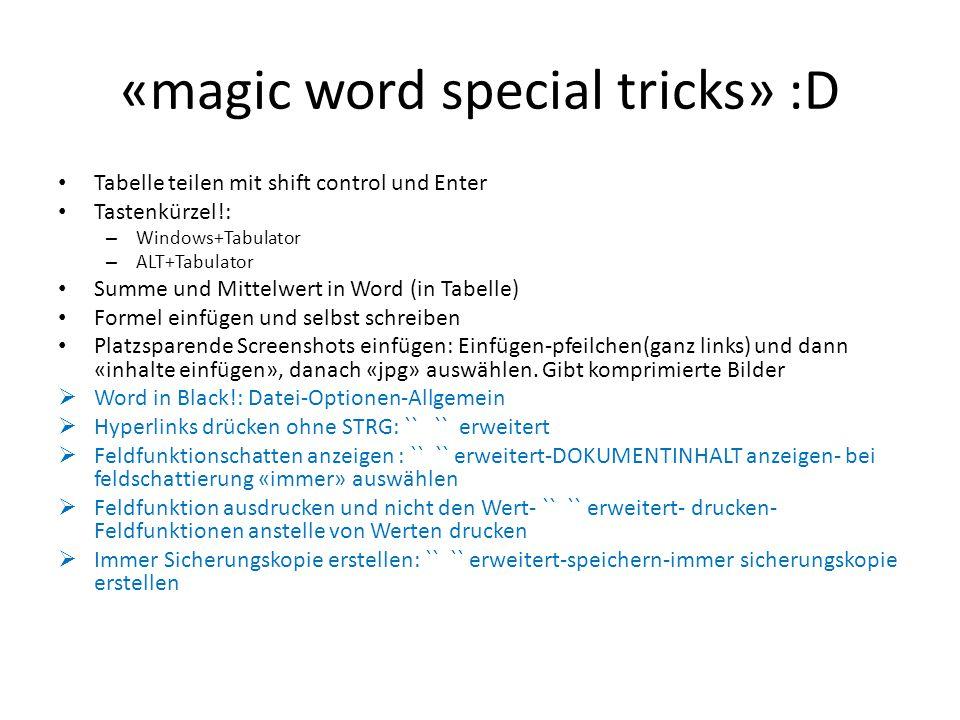 «magic word special tricks» :D