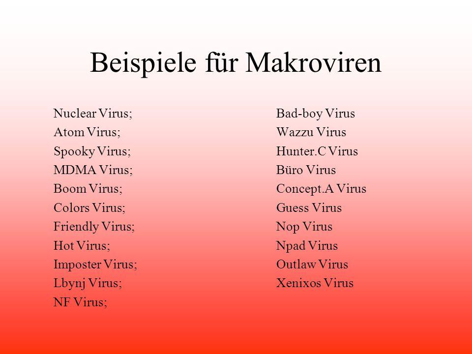 Beispiele für Makroviren