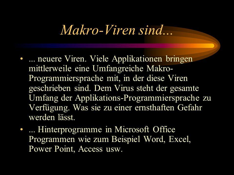 Makro-Viren sind...