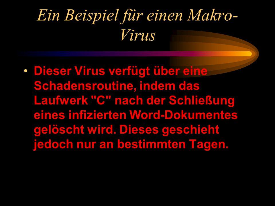 Ein Beispiel für einen Makro-Virus