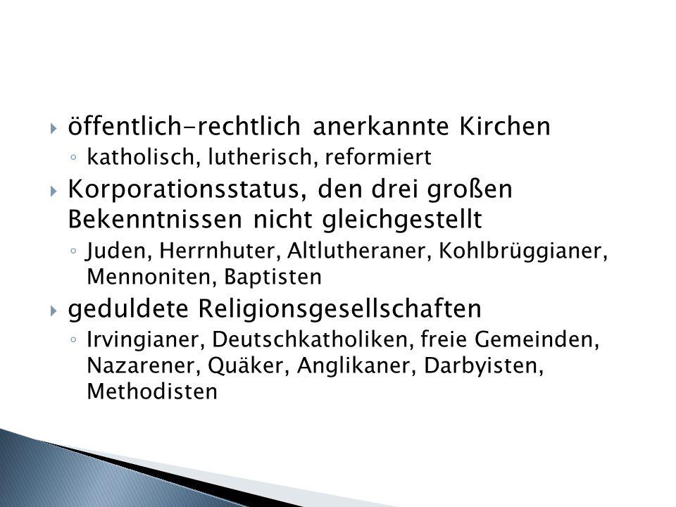 öffentlich-rechtlich anerkannte Kirchen