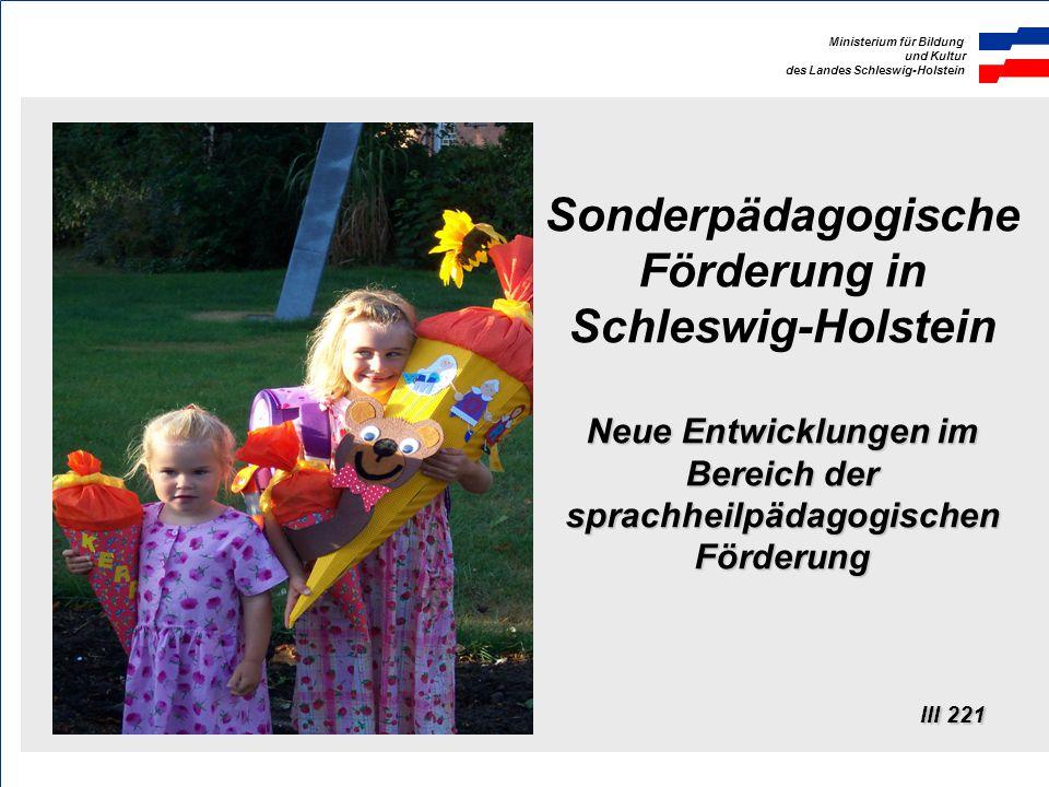 Sonderpädagogische Förderung in Schleswig-Holstein