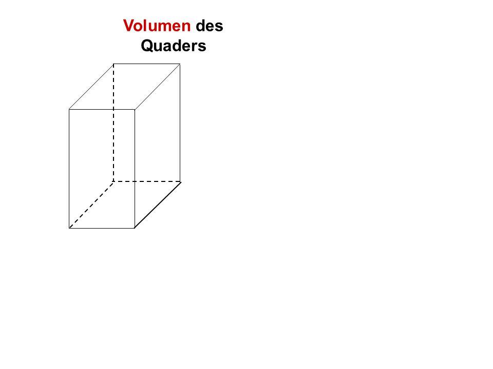 Volumen des Quaders