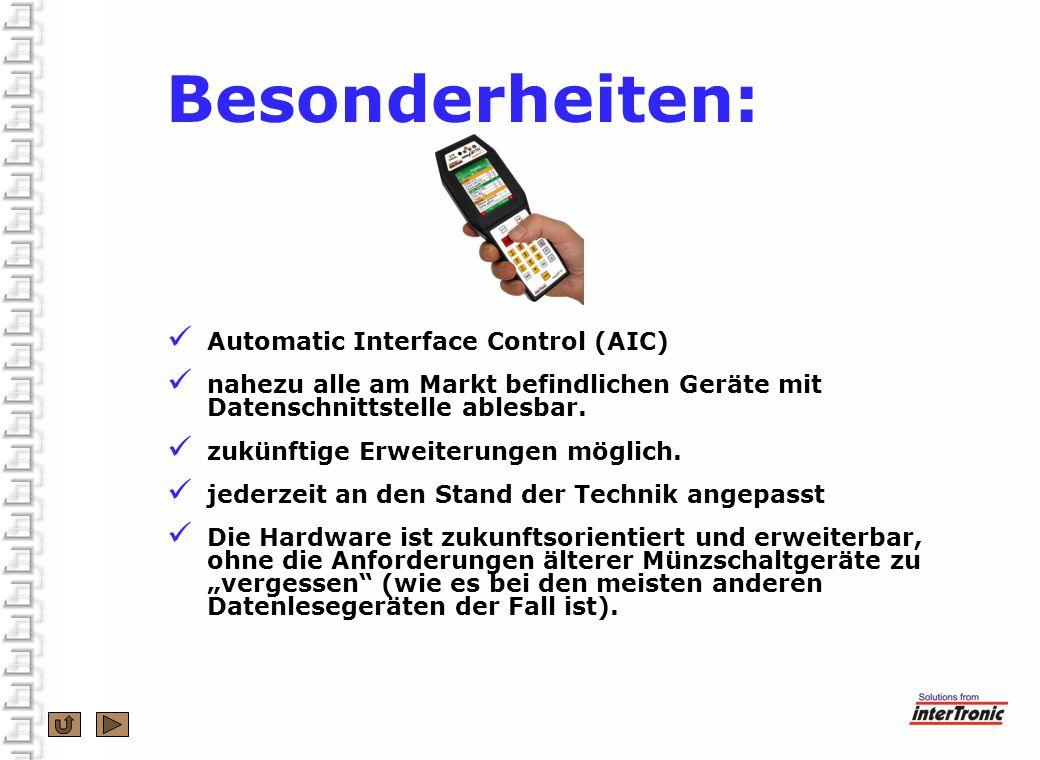 Besonderheiten: Automatic Interface Control (AIC)