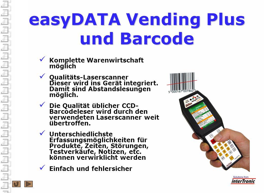 easyDATA Vending Plus und Barcode