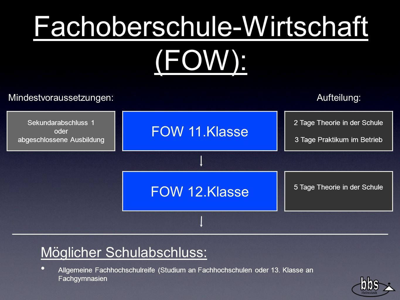 Fachoberschule-Wirtschaft (FOW):
