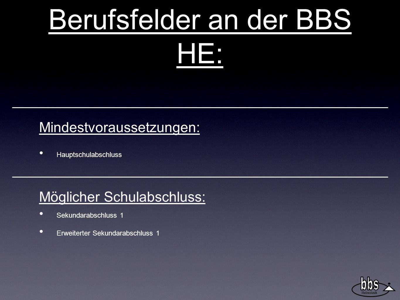 Berufsfelder an der BBS HE:
