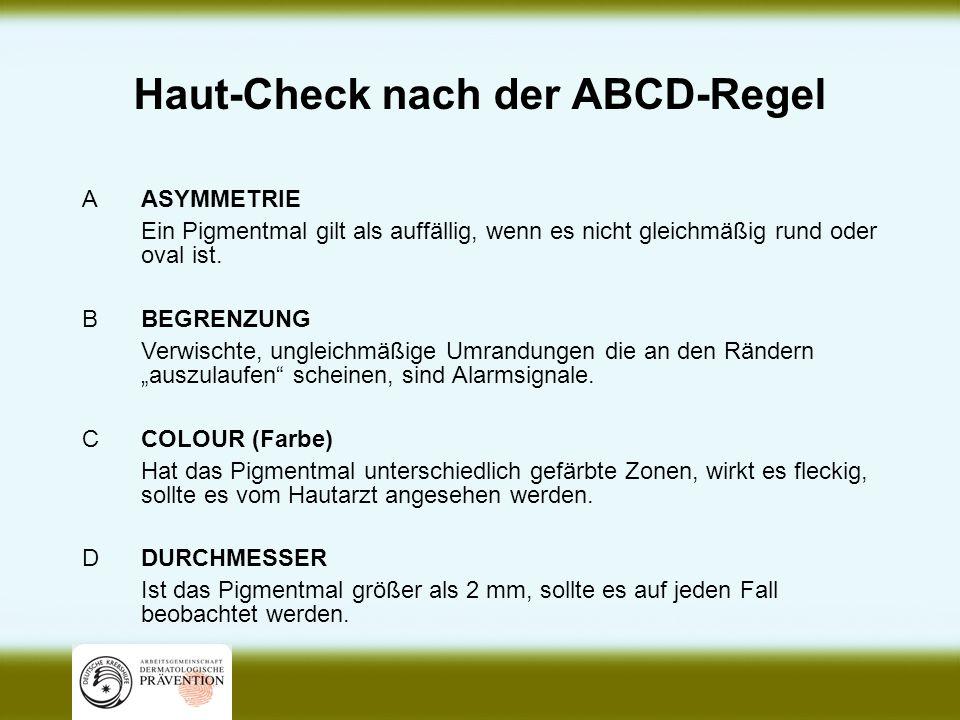 Haut-Check nach der ABCD-Regel