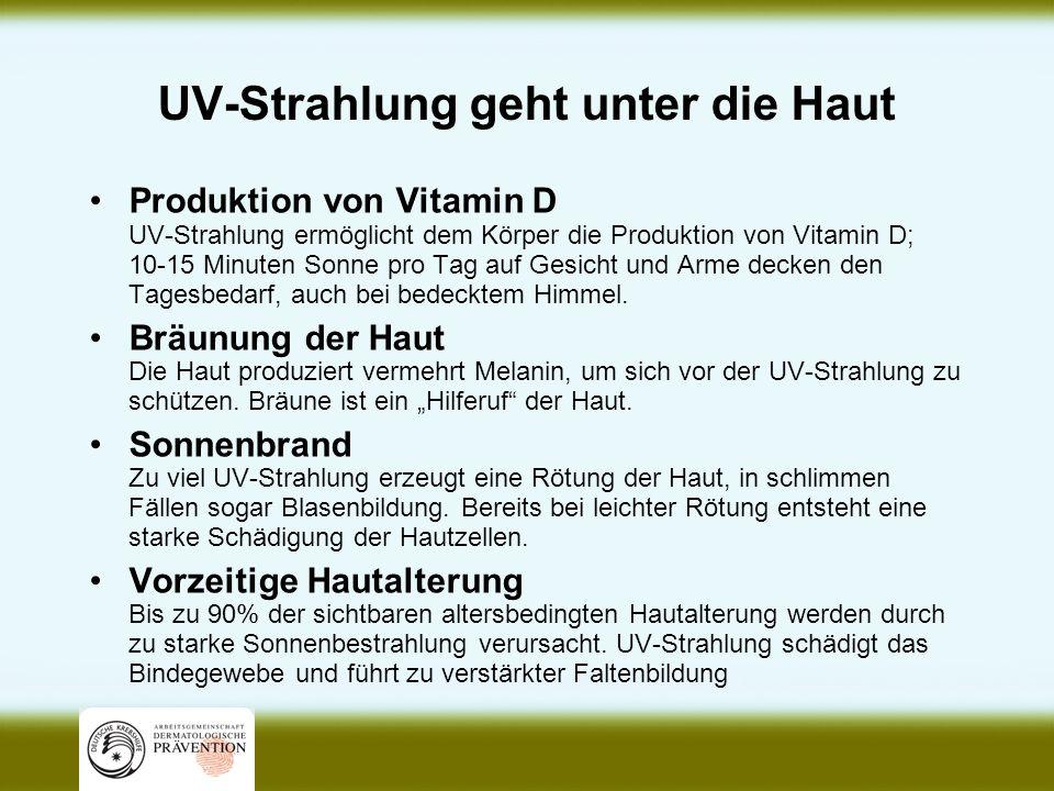 UV-Strahlung geht unter die Haut