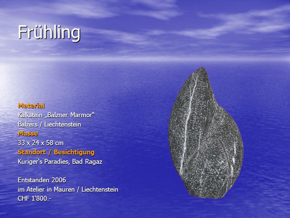 "Frühling Material Kalkstein ""Balzner Marmor Balzers / Liechtenstein"