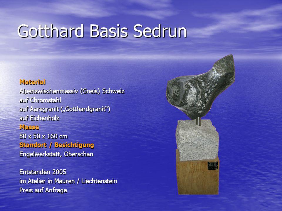 Gotthard Basis Sedrun Material Alpenzwischenmassiv (Gneis) Schweiz