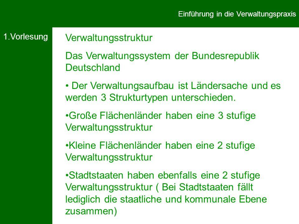 Das Verwaltungssystem der Bundesrepublik Deutschland