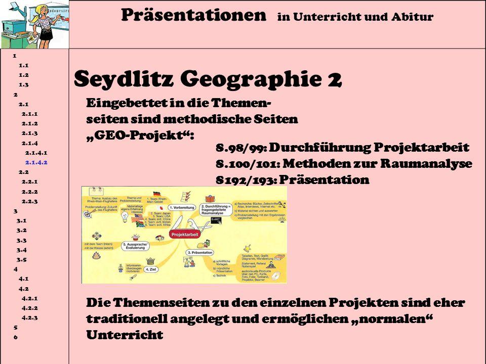 Seydlitz Geographie 2 Präsentationen in Unterricht und Abitur