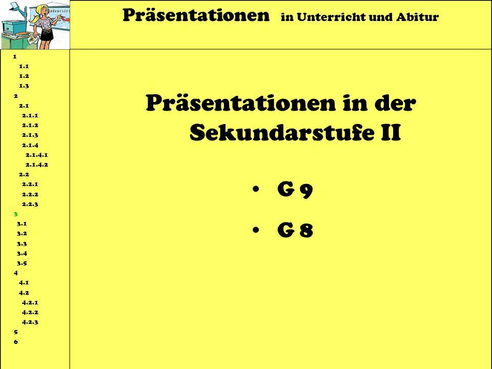Präsentationen in der Sekundarstufe II