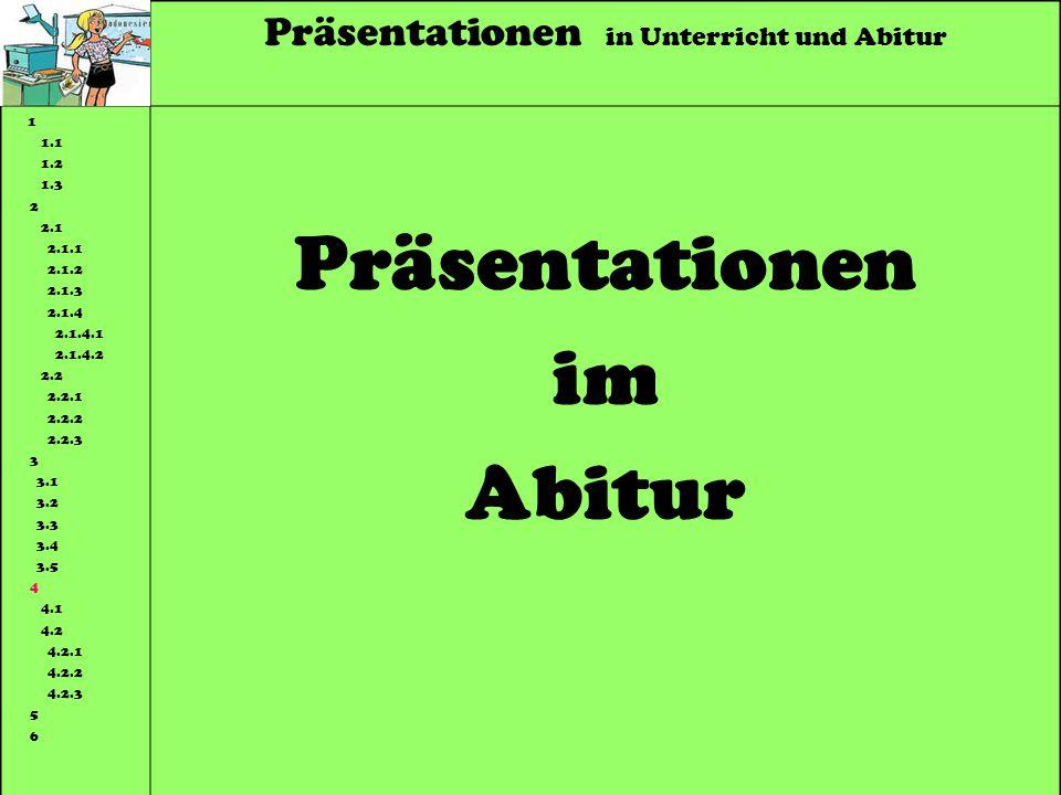 Präsentationen im Abitur