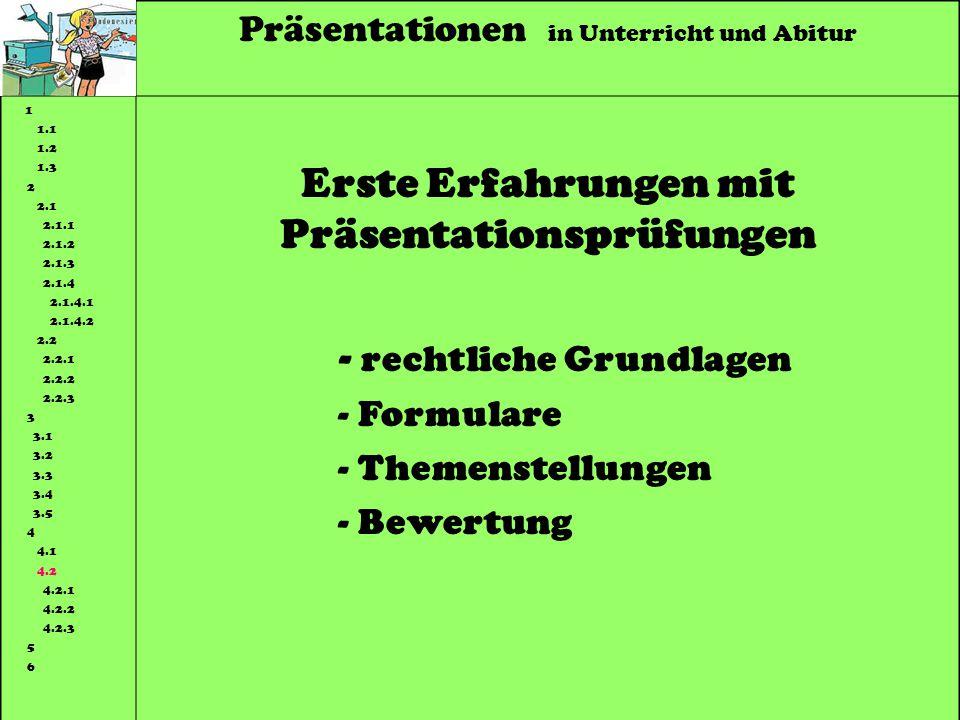 Erste Erfahrungen mit Präsentationsprüfungen