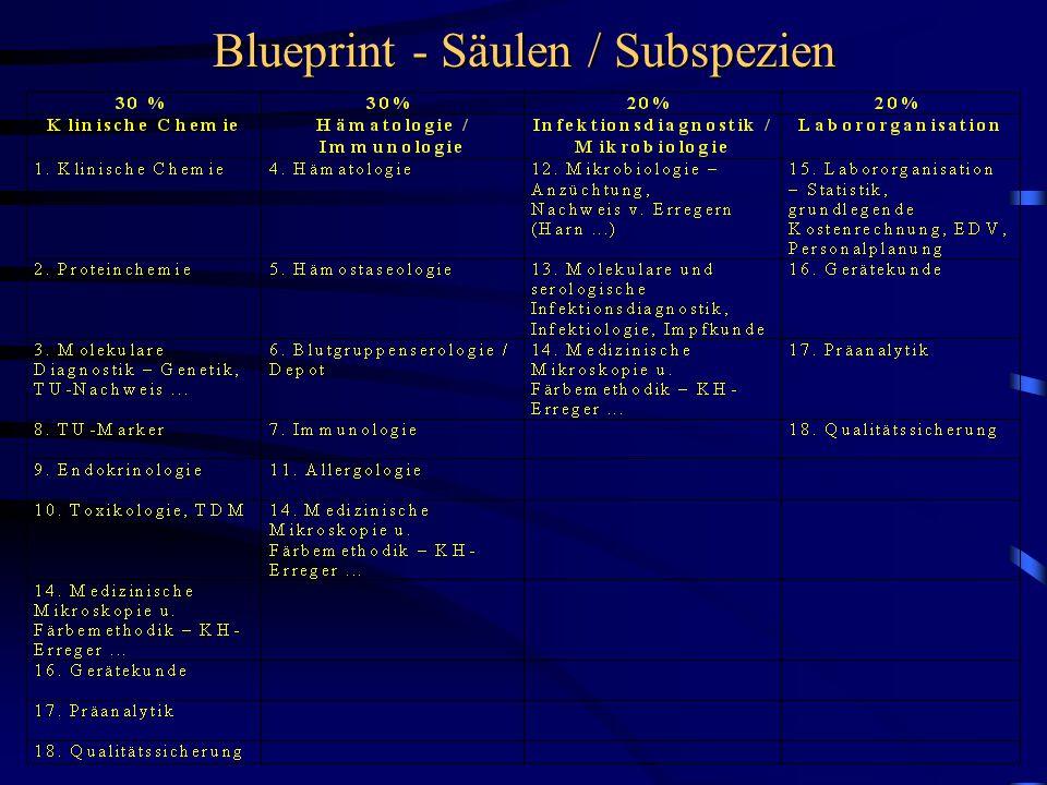 Blueprint - Säulen / Subspezien
