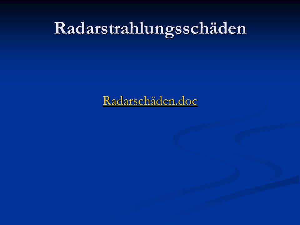 Radarstrahlungsschäden