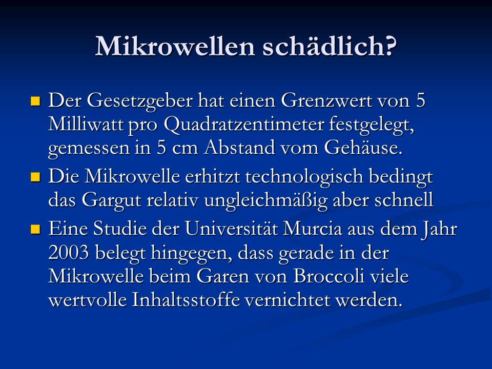 Mikrowellen schädlich