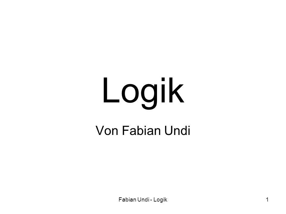 Logik Von Fabian Undi Fabian Undi - Logik