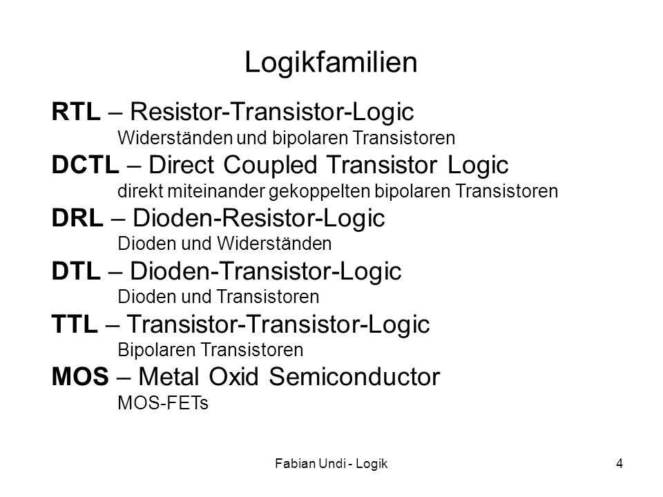 Logikfamilien RTL – Resistor-Transistor-Logic