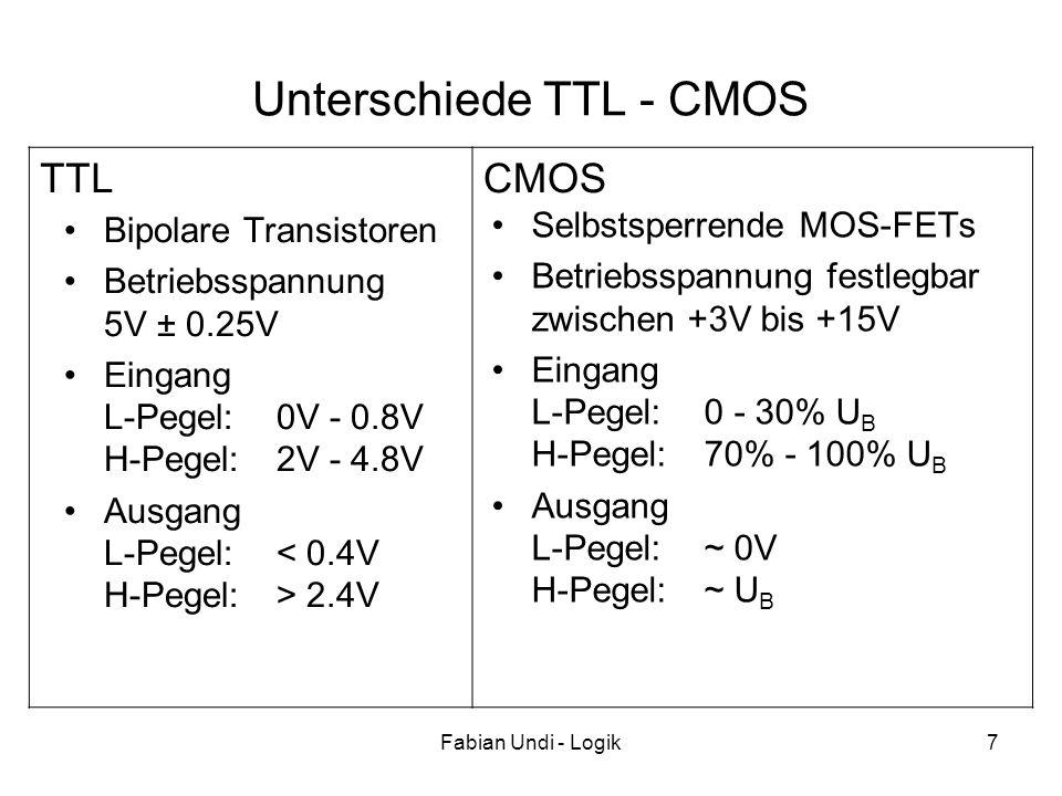 Unterschiede TTL - CMOS