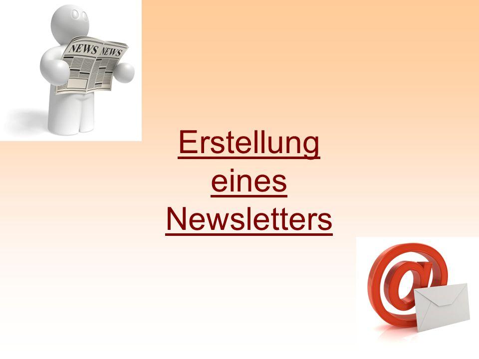 Erstellung eines Newsletters