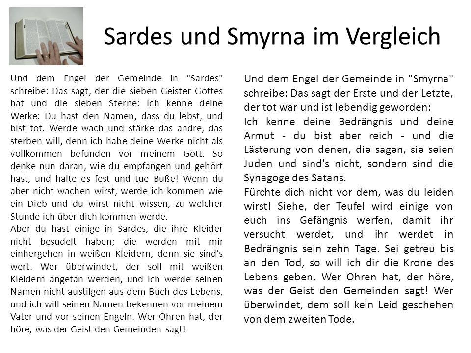 Sardes und Smyrna im Vergleich