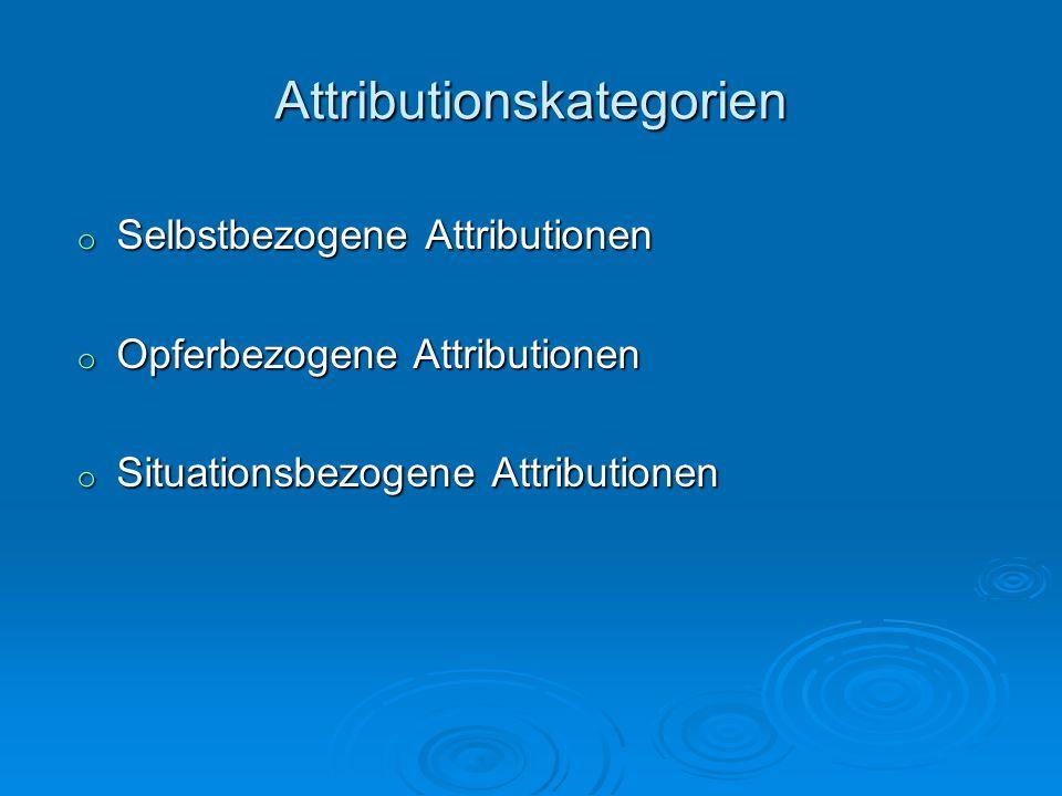 Attributionskategorien