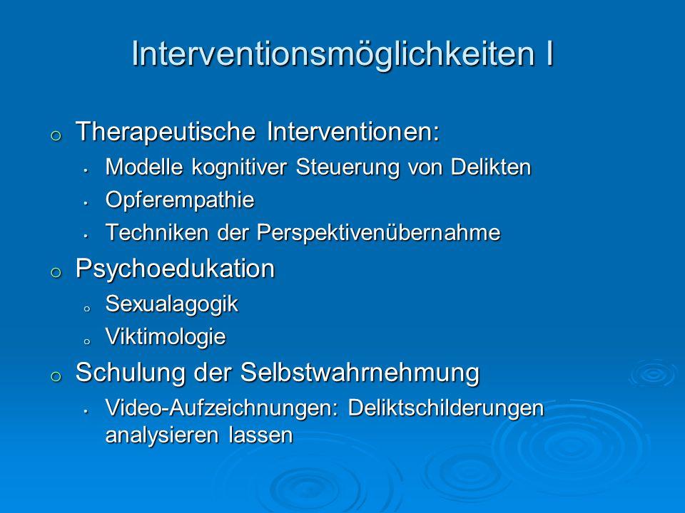 Interventionsmöglichkeiten I