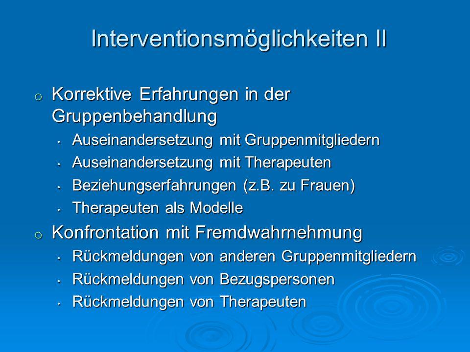 Interventionsmöglichkeiten II