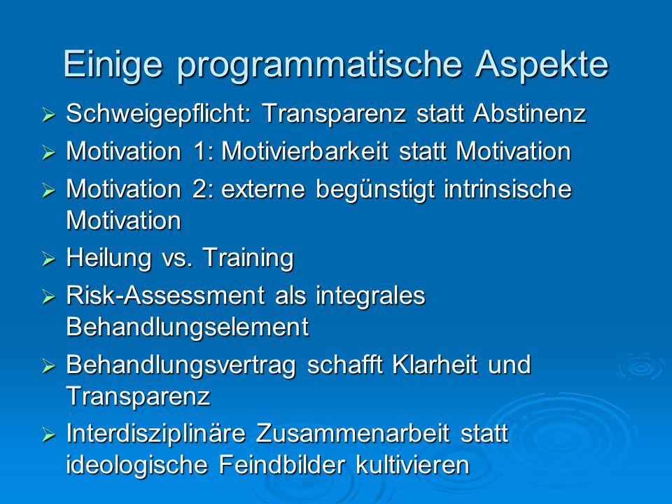 Einige programmatische Aspekte
