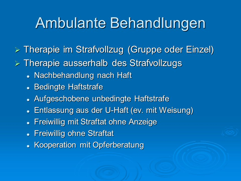 Ambulante Behandlungen