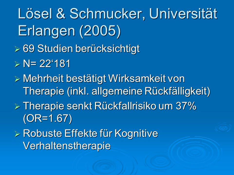 Lösel & Schmucker, Universität Erlangen (2005)