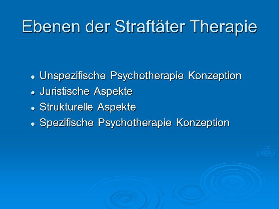 Ebenen der Straftäter Therapie