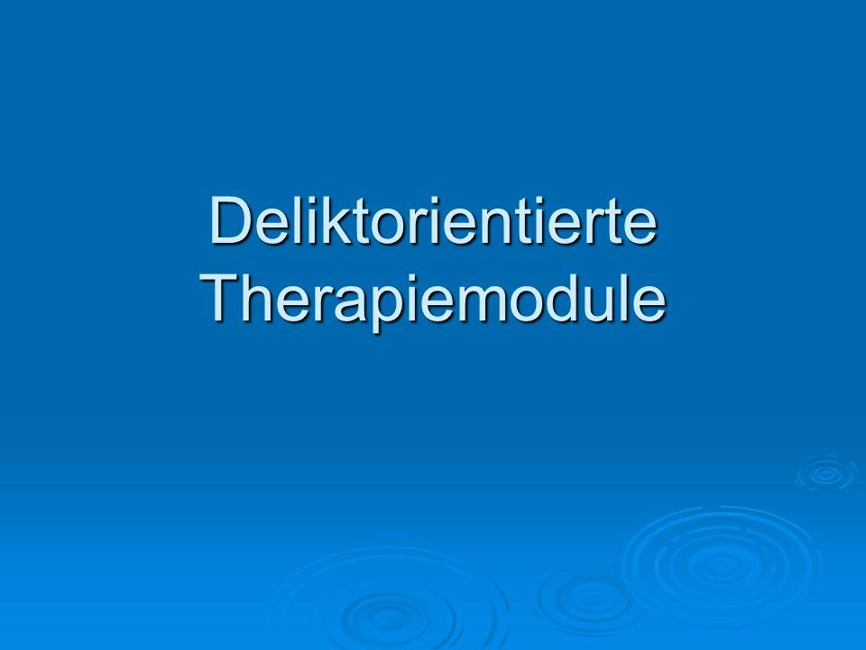Deliktorientierte Therapiemodule