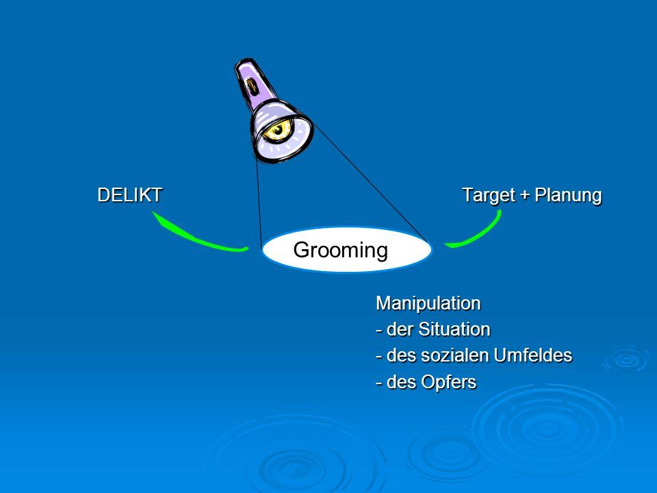 Grooming DELIKT Target + Planung Manipulation - der Situation