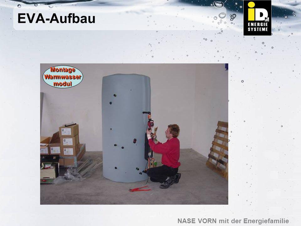 EVA-Aufbau Montage Warmwasser modul
