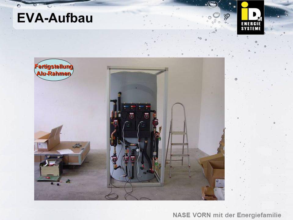 EVA-Aufbau Fertigstellung Alu-Rahmen