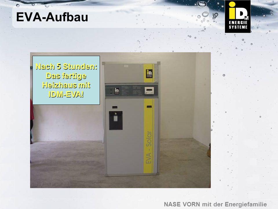 EVA-Aufbau Nach 5 Stunden: Das fertige Heizhaus mit IDM-EVA!