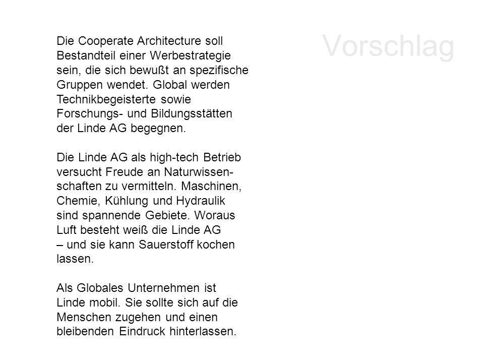 Vorschlag Die Cooperate Architecture soll