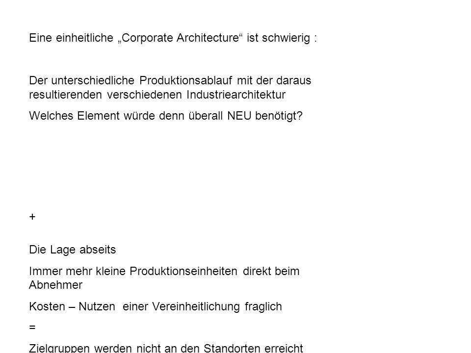 """Eine einheitliche """"Corporate Architecture ist schwierig :"""