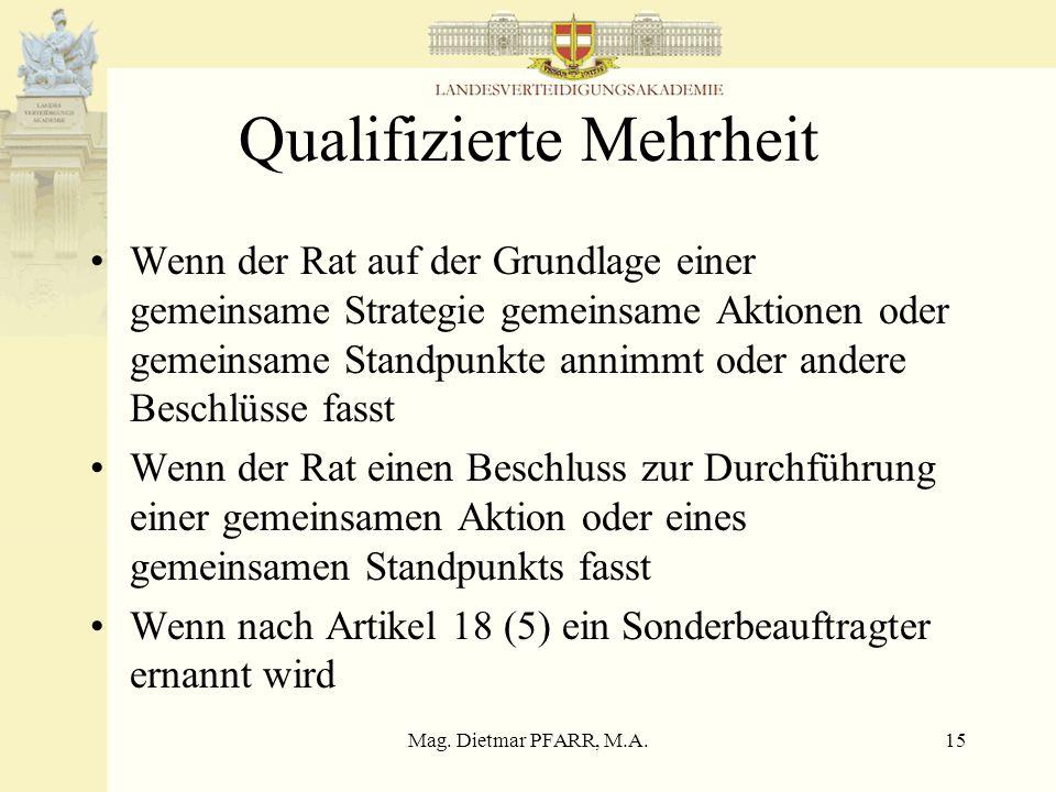 Qualifizierte Mehrheit